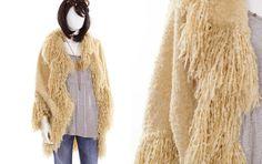 Shaggy Wrap Sweater Fringe Sweater Kimono by FiregypsyVintage