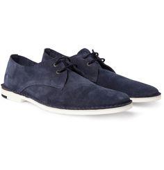 Pierre HardyContrast-Sole Suede Derby Shoes