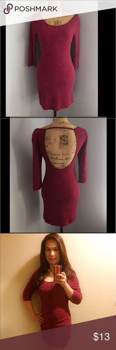 Dress Party dress, wear it once in vegas, color maroon with silver shimmering, very good condition Deb Dresses Long Sleeve