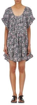 Natalie Martin Women's Marina Floral-Print Crepe Swing Dress-NAVY | BARNEYS NEW YORK saved by #ShoppingIS