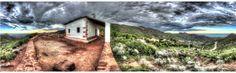 Una vista 360º y hdr del desierto de las Palmas en Benicassim (Castellón)