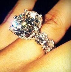 LunasAngel♡ Huge Engagement Rings, Wedding Engagement, Huge Wedding Rings, Wedding Bands, Engagement Celebration, Esmeralda, Armband, Dream Ring, Dream Wedding