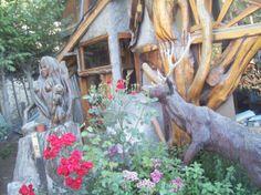 el ciervo y el hada, puerta de casa