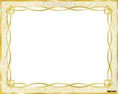 Gold Frame Template