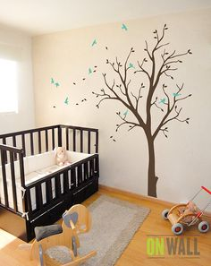 Kid room Tree vinyl wall decal Nursery wall por ONWALLstudio
