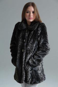 Boutique Bria Leopard Faux Fur Coat $140