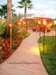 queremos elementos de fuego en el coctel.area de patio interior por prevenir mosquitos