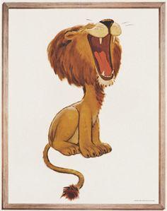 Artist Unknown poster: Jello - Lion |  Shop original vintage #posters online: www.internationalposter.com.
