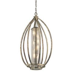 Kichler Savanna 4 Light Pendant - Sterling Gold