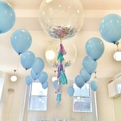 Frozen Inspired Jumbo Confetti Balloon with by onestylishparty