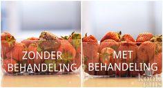 Aardbeien blijven veel langer goed met deze truc! Bijna iedereen houdt wel van een aardbei; heerlijk zoet, fris en ook nog eens gezond! Jammer alleen dat... Food Hacks, Good To Know, Cooking Tips, Smoothies, Household, Strawberry, Food And Drink, Low Carb, Fruit