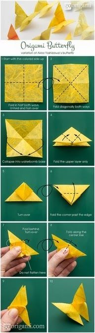 Easy DIY Crafts: Origami Butterfly