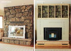 fireplace surround redo rock framework coverup