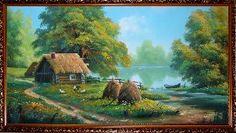 Домик у озера - Летний пейзаж <- Картины маслом <- Картины - Каталог | Универсальный интернет-магазин подарков и сувениров