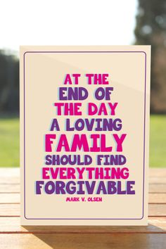 FAMILY QUOTE   Greeting card  5 x 7  PDF by SHORESEA on Etsy, $2.00
