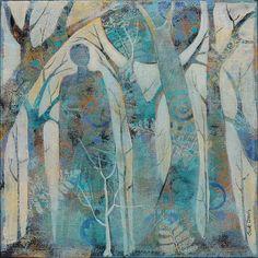 ArtPainting on Canvas Original painting nature by SueDavisStudio