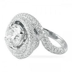 LEPOZZI 3.01 CT ROUND DIAMOND ENGAGEMENT RING
