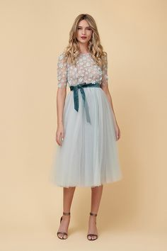Rochie Cocktail din Tulle Mint Corset, Lace Skirt, Cocktails, Satin, Grey, Skirts, Dresses, Fashion, Tulle