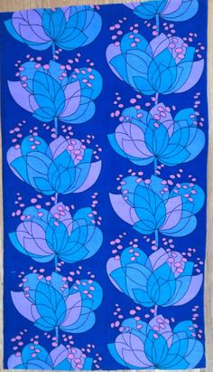 Vintage Fabric Boras Sweden 1960s Rio By by NiceworkByTheYard