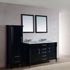 Deluxe Vanity & Kitchen 313ABD-60 Continental Collection 60-in Bathroom Vanity with Countertop | ATG Stores