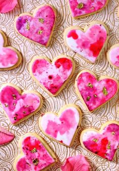 Watercolor Rose Sugar Cookies are gorgeous, romantic sugar cookies with a beautiful watercolor design. You'll be amazed at how simple it is to create the lovely watercolor patterns on the rose-flavored cookies! Valentines Day Cookie Recipe, Valentines Day Treats, My Funny Valentine, Valentine Cookies, Valentine Recipes, Valentines Hearts, Easter Cookies, Holiday Treats, Cupcakes