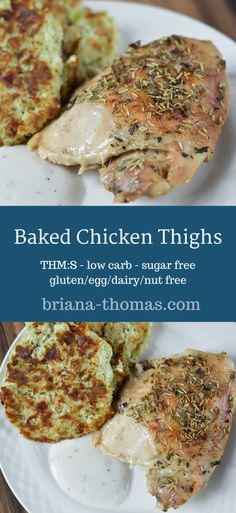 These Baked Chicken Thighs are an inexpensive family friendly meal.  THM:S, low carb, sugar free, gluten/egg/dairy/nut free