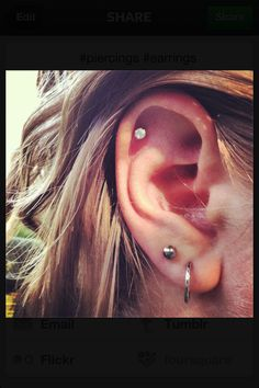 Piercings so cute!!
