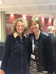 Kate Humble and LGFB Executive Director, Sarahjane Robertson #icapcharityday #lgfbuk