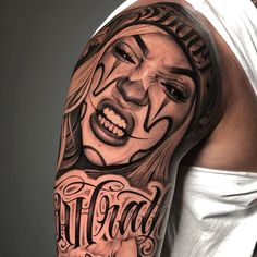 Realistic Tattoos and Tattoo Ideas – Realism and the Best 20 Tattoo Models We've listed this week's realistic tattoos here. These tattoos are really very realistic and also terrifying. Chicano Style Tattoo, Chicano Tattoos, Dope Tattoos, Body Art Tattoos, Hand Tattoos, Sleeve Tattoos, Payasa Tattoo, Inca Tattoo, Tattoo Lettering Design