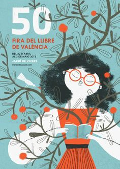 Mar Hernandez illustrated the entire communication campaign of the 50 Book Fair of Valencia.
