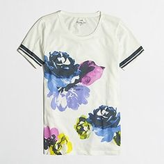 Factory photo-floral collector tee