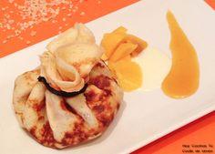 Hoy Cocinas Tú: Crêpes con melocotón y chocolate blanco