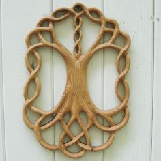 Tree of Life Celtic Wood Carved Knot  Yggdrasil  by signsofspirit, $185.00