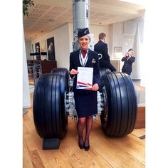 """After 6 long weeks I've finally got my wings and I'm officially British Airways… Airline Uniforms, Airline Tickets, British Airways Cabin Crew, Air Hostess Uniform, Airline Cabin Crew, Flight Attendant Life, International Airlines, Cheap Airlines, Flight Deck"