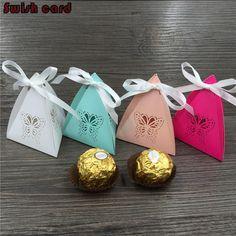 New 50 pcs mult papillon bonbons boîte d'emballage de chocolat découpé au laser…