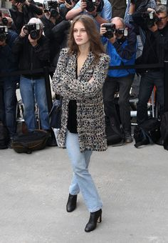 Marine Vacth attends the Chanel show