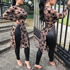 Buy Sexy Smock Women Fashion High Slit Casual Blouse Batwing Long Sleeves Tops Transparent Gown at Wish - Shopping Made Fun Sexy Outfits, Casual Outfits, Sexy Jeans, Beautiful Indian Actress, Sexy Hot Girls, Sensual, Long Sleeve Tops, Long Tops, Plus Size Outfits