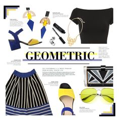 """Geometric"" by just-a-girl-with-thoughts ❤ liked on Polyvore featuring Helmut Lang, Toolally, Edie Parker, Knitss, Geox, Ink + Alloy and Bobbi Brown Cosmetics"