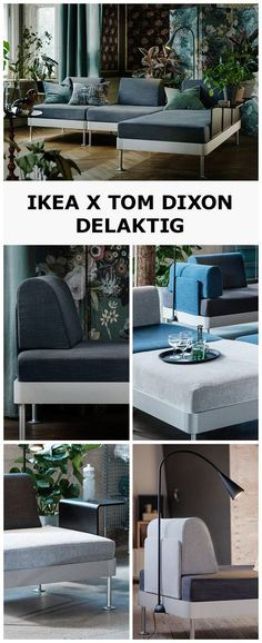 We've teamed up with British designer Tom Dixon to create DELAKTIG. Inspired by modern living, DELAKTIG adapts to whatever you or your space might need. Clip on armrests, a table, a lamp, or move the backrests around, how about changing the cover completely? Because, with DELAKTIG, you get to do your thing. Click to learn more.