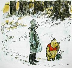 Winnie the Pooh and Christopher Robin <3