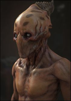 Alien Portrait by panick.deviantart.com