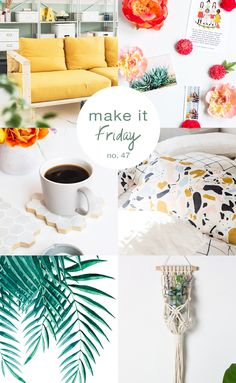 Need a craft project for this weekend? Check out all the inspiration in this colorful DIY roundup on this week's Make it Friday.
