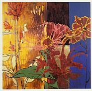 Warm Season, by Robert Kushner Collage Illustration, Plant Illustration, Collage Art, Abstract Flowers, Abstract Art, Robert Kushner, Plant Painting, Arte Floral, Botanical Art