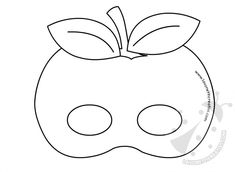 Fruit shaped masks to color Apple Coloring Pages, Printable Coloring Pages, Coloring Pages For Kids, Mask Drawing, Printable Masks, Mask Template, Animal Masks, To Color, Mask For Kids