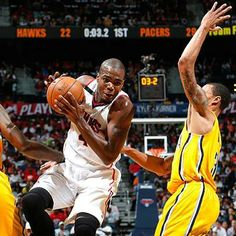 Paul Milsap Hawks vs Pacers First Round Playoffs 2014