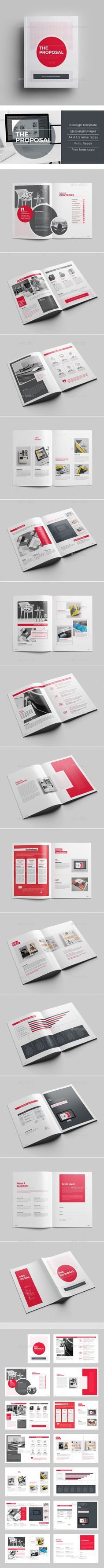 Clean & Professional Proposal Template for Adobe InDesign it comes in International A4 & Us Letter size
