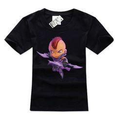 Cool Anti Mage t shirts 3xl black DOTA 2 hero tee shirt 100% cotton