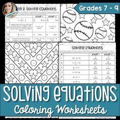 solving one step equations fun engaging worksheet activity. Black Bedroom Furniture Sets. Home Design Ideas