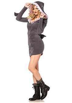 Find sexy Halloween costumes for women, men, and plus-size right here! Shop our selection for the best sexy Halloween costume ideas around! A revealing, sexy costume is sure to make your Halloween or cosplay event a memorable one. Shark Halloween Costume, Shark Costumes, Animal Costumes, Cool Costumes, Adult Costumes, Costumes For Women, Adult Halloween, Halloween 2016, Spirit Halloween
