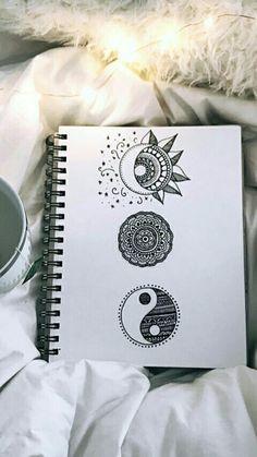 62 ideas zentangle art dibujos mandalas for 2019 Doodle Art Drawing, Zentangle Drawings, Cool Art Drawings, Pencil Art Drawings, Art Drawings Sketches, Easy Drawings, Cute Drawings Tumblr, Zentangle Art Ideas, Zentangles